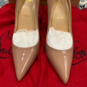 Christian Louboutin Pigalle 100 Patent Nude